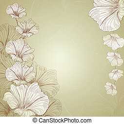 congratulatory vector floral background