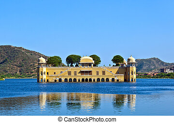 Water Palace Jal Maha) in Man Sagar Lake. Jaipur - Water...
