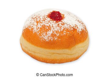 Doughnut on white background - A doughnut isolated on a...