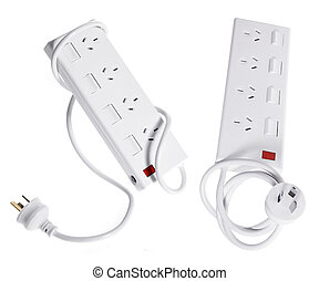 Power Strips on White Background