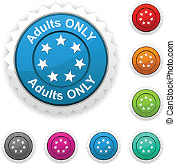 Adults only award. - Adults only award button. Vector.