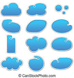 Cloudscape notification blue shapes.