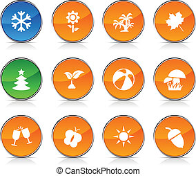 Seasons  icons.