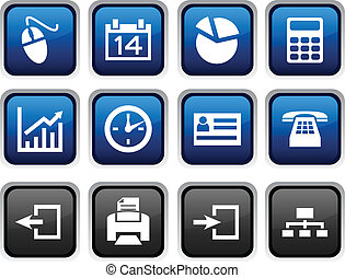 Office icons - Office icon set Vector illustration