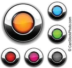 Glossy buttons.