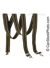 Suspenders on White Background