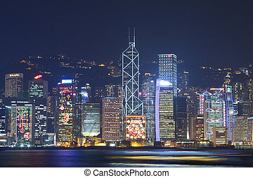 Hong Kong night view at Christmas - HONG KONG - 9 DEC, Hong...