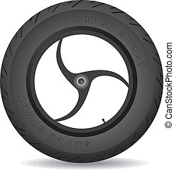 Wheel for a sports bike - vector. - Wheel for a sports bike...