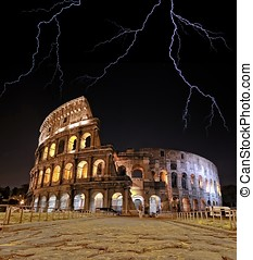 Colosseum. - Colosseum with rays.