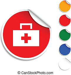 Medical  icon. - Medical  sheet icon. Vector illustration.