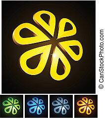3d flower emblems.