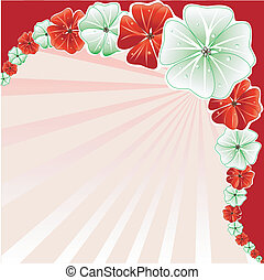 Floral Christmas Background 3 - Vector Illustration of Red...