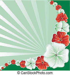 Floral Christmas Background 3 - Vector Illustration of Green...