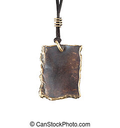 Copper pendant isolated on white background