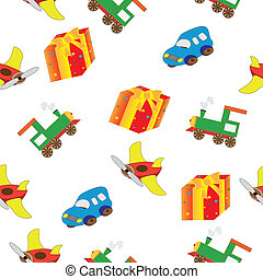 dessin, airplane, car, train, paravoz - Vector Illustration...