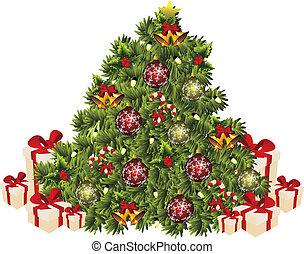 xmas tree - isolated xmas tree