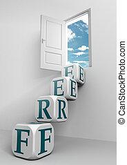 free conceptual door