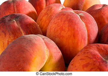 Peaches - Extreme close-up image of peaches, good as...