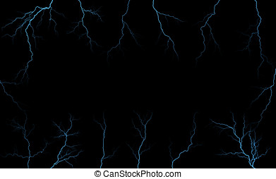 Lightning. - Lightning black background.