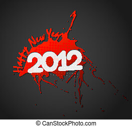 New year 2012 poster design - New year 2012 design Vector...