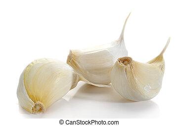 Garlic - Extreme close-up image of garlic studio isolated on...