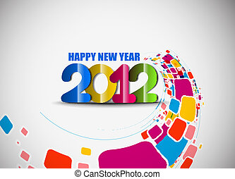 new year 2012 background - new year 2012 in white background...