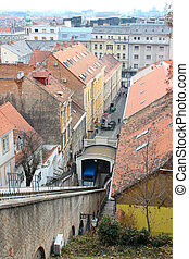 The Cablecar In Zagreb, Croatia - The Cablecar, Funicular,...