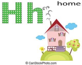 Children  alphabet ,H