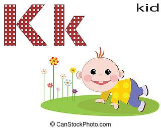 Children  alphabet ,K