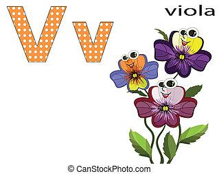 Children  alphabet ,V