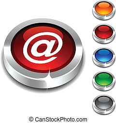 Arroba 3d button. - . Arroba 3d button set. Vector...