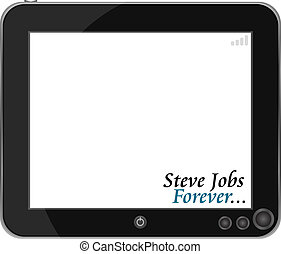 Touchpad or Tablet PC isolated on white - vector touchpad or...