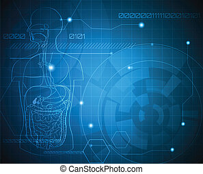 Medical background - Abstract gastrointestinal system...