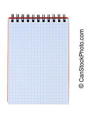 Notepad isolated on white background.