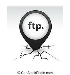 FTP black icon in crack.