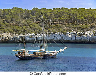Pirate Ship - Ancient style ship used in adventure cruises...
