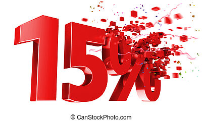 explosive 15 percent off on white background - explosive 15...