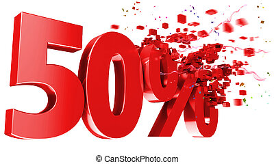 explosive 50 percent off on white background - explosive 50...