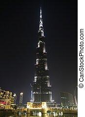 Burj Khalifa in Dubai at night