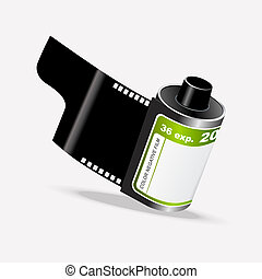 Vector Roll of Camera Film - Vector Unused Roll of Camera...