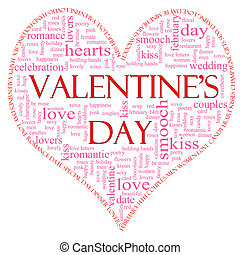 Valentines Day Heart Shaped word cloud - A Valentines Day...