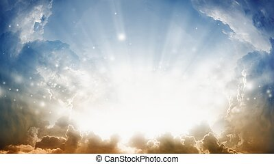 Beautiful sunshine - Peaceful background - sunshine from...