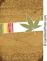 Rasta retro abstract background