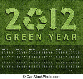 New year 2012 Calendar with ecology conceptual image for...