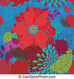 Seamless Bold Flower Pattern - This is a resizable seamless...