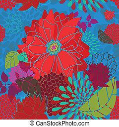 Seamless Bold Flower Pattern