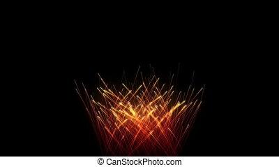 St. Valentine's Day Fireworks heart