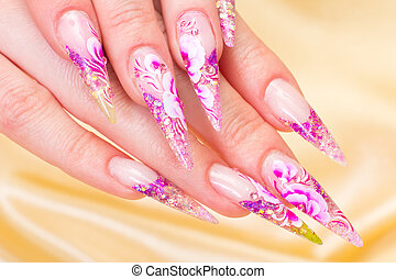 Manicure Relaxation in spa salon Woman fingers