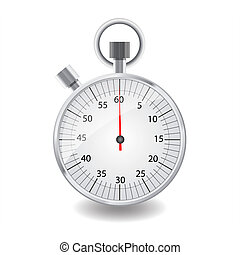 Stopwatch - Stopwatch isolated on white background with...