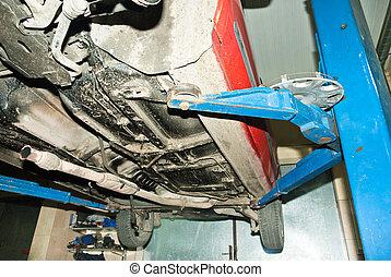 Auto repair shop.